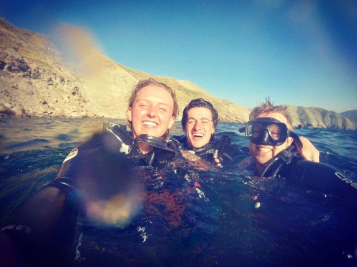 Happy divers in Taganga