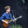 Vance Joy plays guitar at Outside Lands