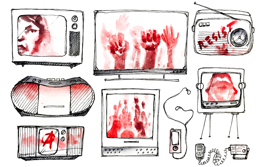 the theme of survival persists throughout all forms of media