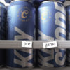 """Beer cans with words """"pre"""" and """"game"""""""