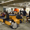 Crowded Moffitt Library