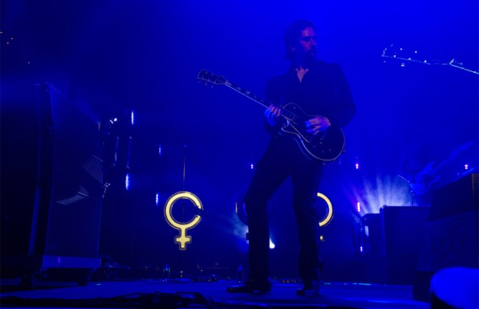 The Killers On Stage At LIVE 105 Not So Silent Night 2017