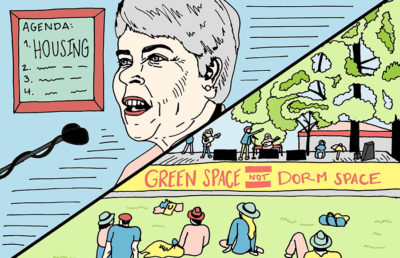 Carol Christ's housing agenda contrasted with People's Park concert