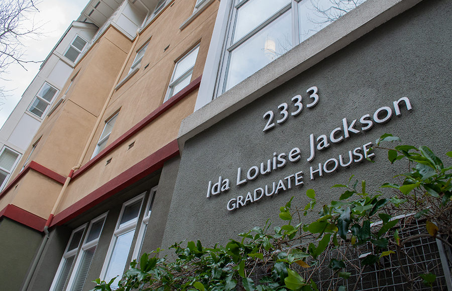 "A housing complex titled ""Ida Louise Jackson Graduate House"""