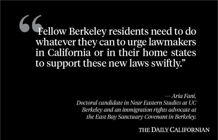 Berkeley citizens must support new TPS legislation