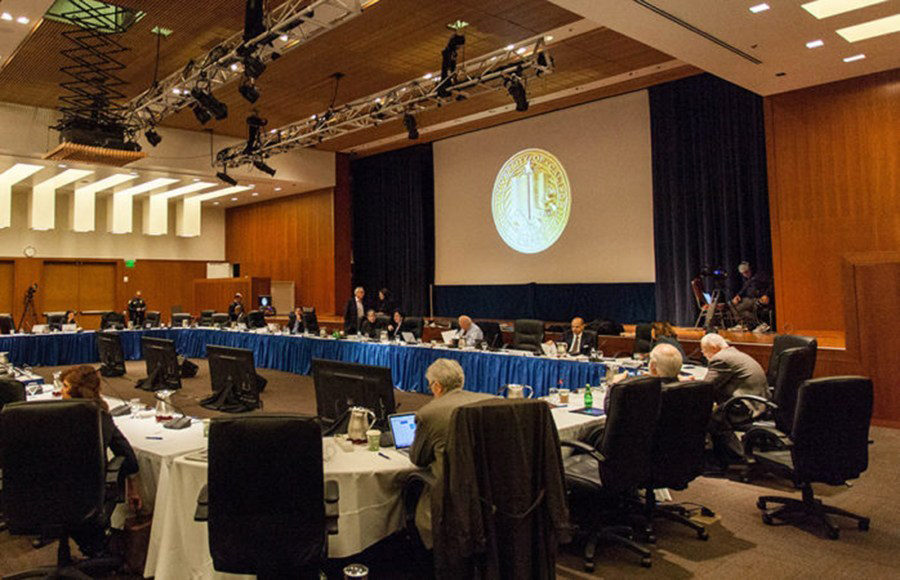 UC Board of Regents meeting