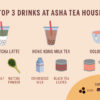 Infographic of top 3 drinks at Asha Tea House