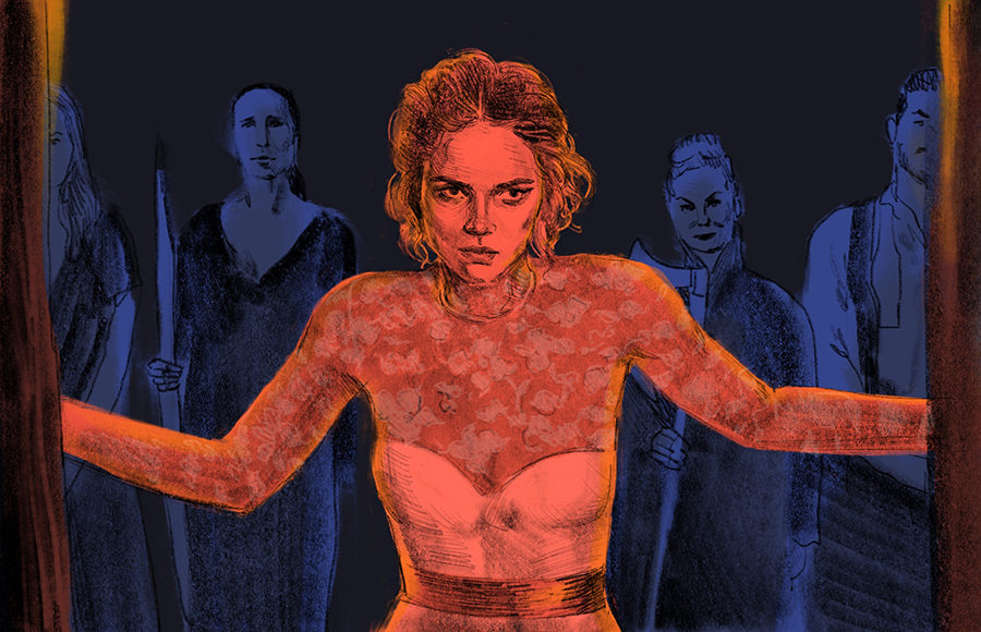 Illustration of characters from Ready or Not
