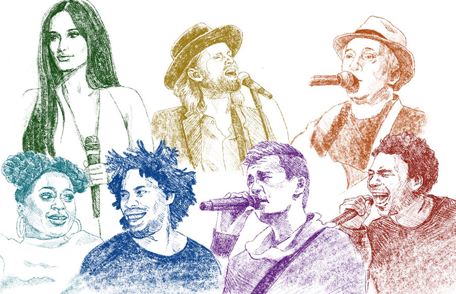 Illustration of Outside Lands performers