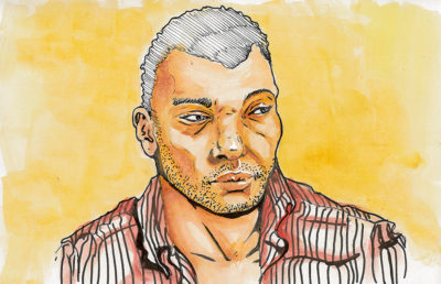 Illustration of Ta-Nehisi Coates