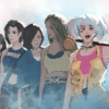 Illustration of Birds of Prey characters