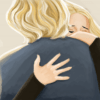Illustration of people hugging