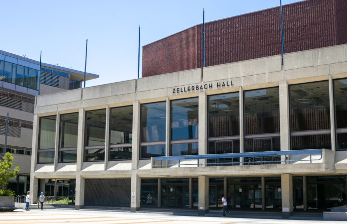 Photo of Zellerbach Hall, UC Berkeley's performance facility in Lower Sproul