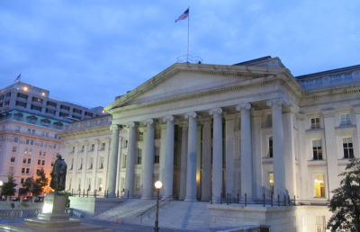 U.S, Department of Treasury building