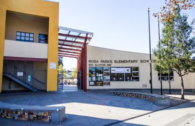 Rosa Parks Elementary School in Southwest Berkeley, which remains closed for the summer.