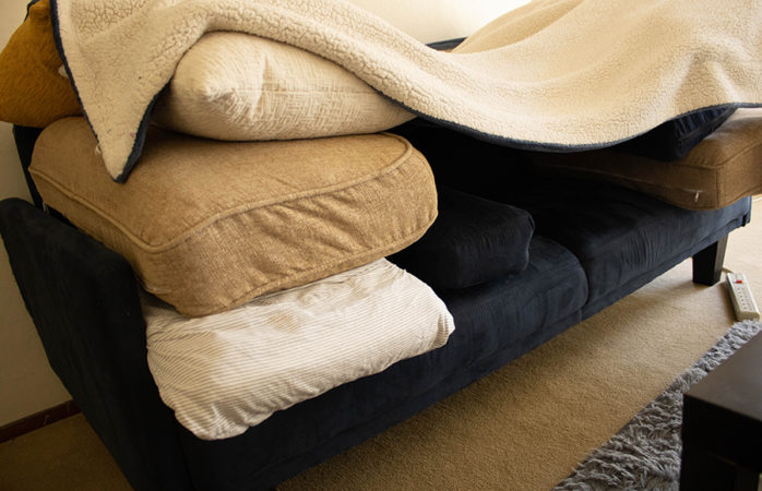 Feeling out of sorts? Gather some blankets and build a fort