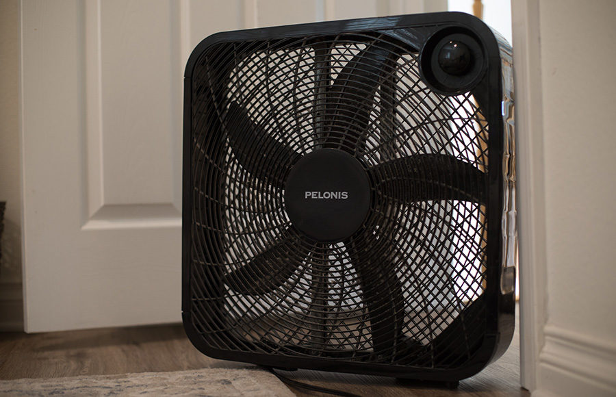 Photo of an electric fan