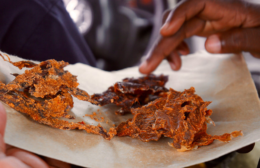 Photo of spicy beef jerky