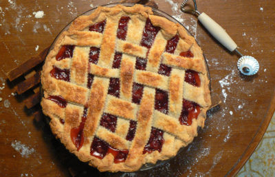 Photo of cherry pie