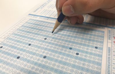 Photo of a scantron