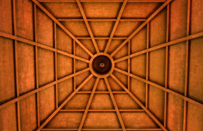 Photo of a church ceiling