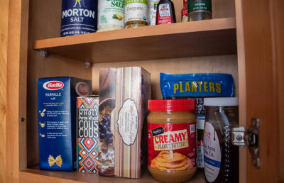 Photo of a pantry with food