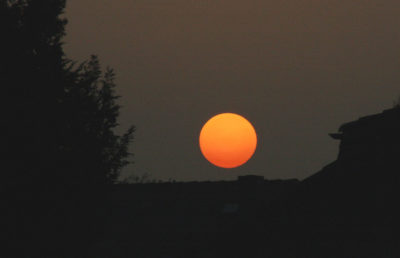 Photo of an orange sun