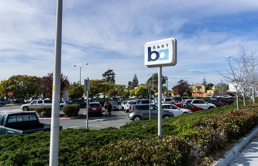 Photo of North Berkeley BART station parking lot