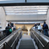 Photo of the downtown Berkeley BART Station escalators