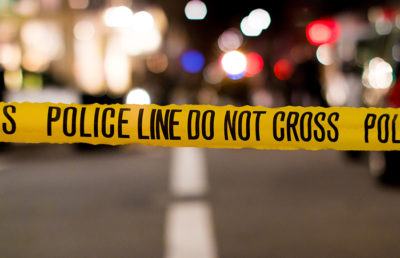 Photo of crime scene police tape