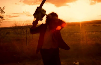"Photo from a scene in ""The Texas Chain Saw Massacre"""