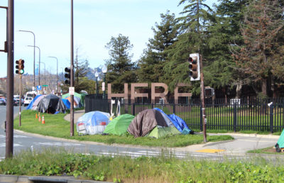 Photo of homeless encampments