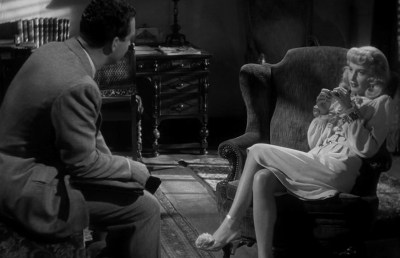 Photo of Barbara Stanwyck and Fred MacMurray in Double Indemnity