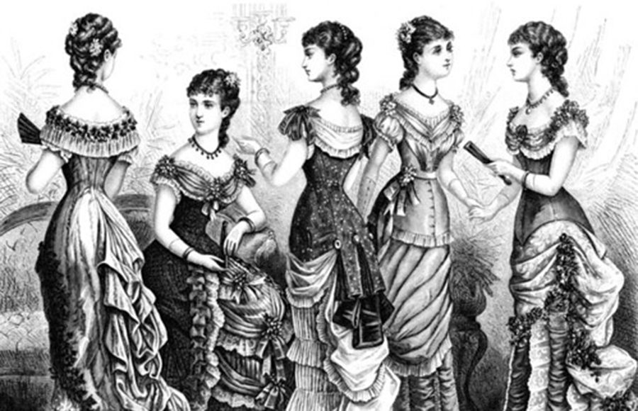 Painting of Victorian women