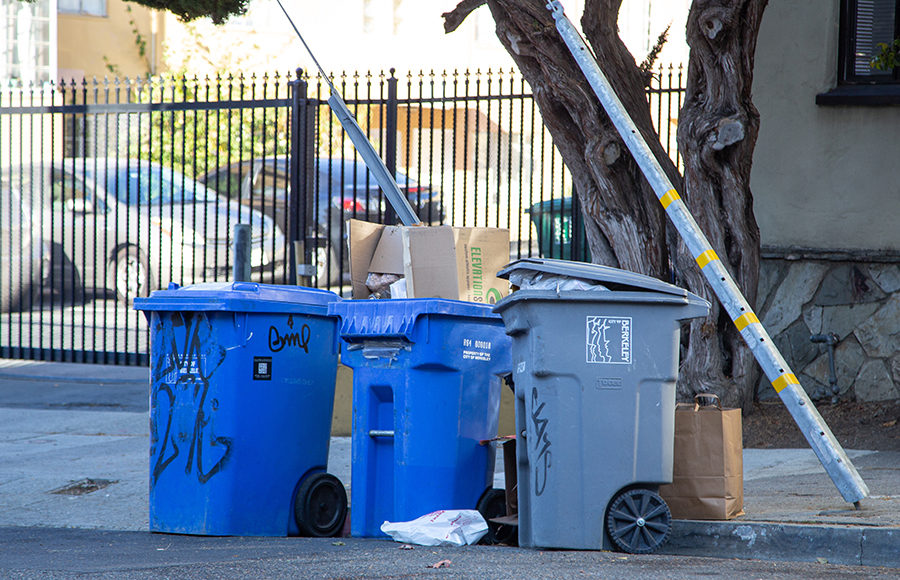Photo of Berkeley recycling / trash cans