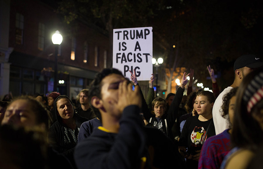 Photo of 2016 election night protests
