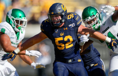 Photo of California Golden Bears defensive end Braxten Croteau