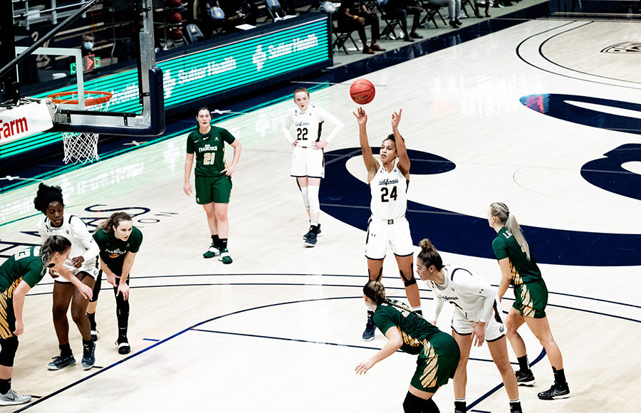 Photo of Cal Women's Basketball playing against USF