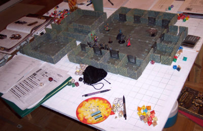 Photo of a Dungeons & Dragons game