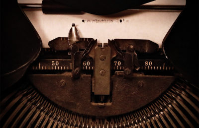 Photo of a typewriter