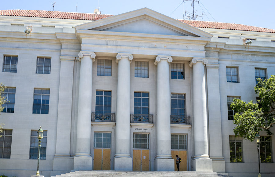 A photo of Sproul hall