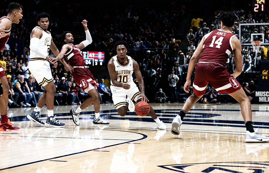 Photo of Cal Men's Basketball Before Game Against Colorado