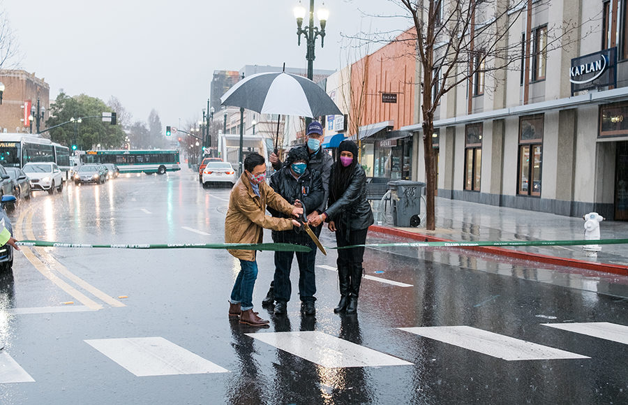 Photo of Kala Bagai street ribbon cutting