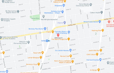 Google maps screenshot with a marker on 2000 Essex St