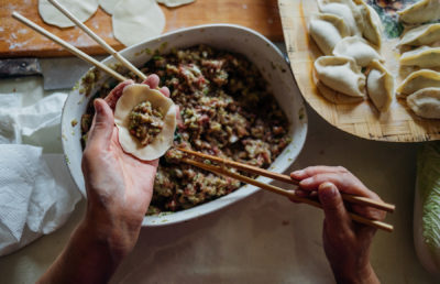 Photo of preparing dumplings