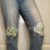 Image of patched jeans