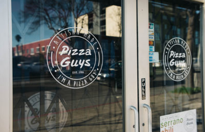Picture of Pizza Guys sign / restaurant