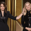 Photo of Tina Fey and Amy Poehler at the Golden Globes