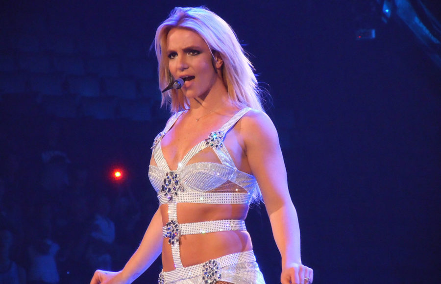 Image of Spears performing