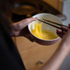 Photo of egg swirling in a bowl